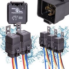 5 Pack OLS 40/30 Amp Automotive Waterproof Relay Switch Harness Set 12V DC 5-Pin #5PackOLS