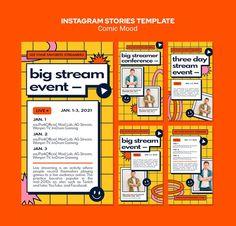 Premium PSD   Comic mood instagram stories template Creative Poster Design, Graphic Design Tips, Creative Posters, Graphic Design Posters, Graphic Design Typography, Graphic Design Inspiration, Book Design, Mood Instagram, Instagram Design