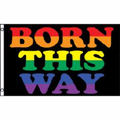 Born This Way - LGBT Flag - Gay and Lesbian Pride 3 x 5 Polyester Flag http://www.shareasale.com/m-pr.cfm?merchantID=36679&userID=856296&productID=545979992
