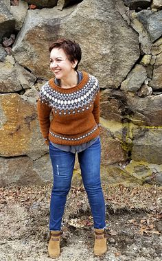 Ravelry: Treysta pattern by Jennifer Steingass Knitting Designs, Knitting Patterns, Nordic Sweater, Icelandic Sweaters, Sweater Patterns, Fair Isle Pattern, Fair Isle Knitting, Pullover, Free Pattern