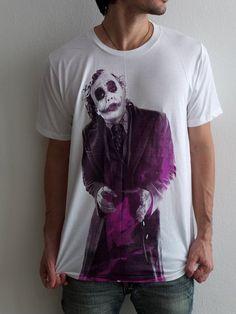 Joker Heath Ledger Tribute Vintage Batman T-Shirt XL on Etsy, $16.99