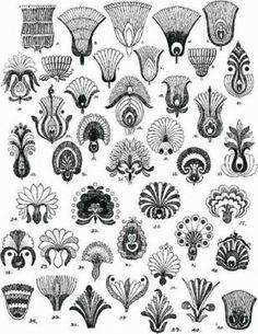 Hungarian pattern flower motifs various regions