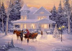 ~ Sleigh Ride Home....I'm dreaming of a white Christmas, just like the ones I used to know....