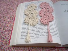 lacy crochet bookmarks