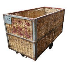 French Laundry Basket Cart, 1960