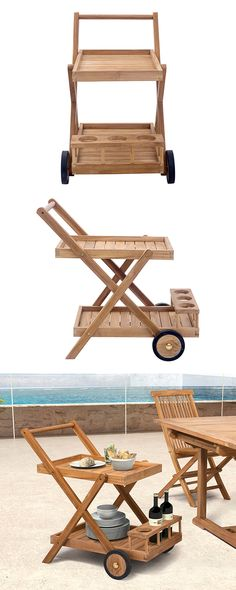 Whether toting wine or sunscreen, our Vero Serving Trolley is bottle service on wheels. Its natural teak construction makes the cart suitable for both indoor and outdoor use, while two tiers offer ampl...  Find the Vero Serving Trolley, as seen in the Summer Entertaining Essentials  Collection at http://dotandbo.com/collections/summer-entertaining-essentials?utm_source=pinterest&utm_medium=organic&db_sku=117847