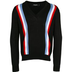 Dsquared2 web striped cardigan ($675) ❤ liked on Polyvore featuring men's fashion, men's clothing, men's sweaters, blue, mens vneck sweater, mens striped sweater, mens blue sweater, mens v neck sweater and mens cardigan sweaters