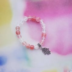 Bracelet with stone beads Stone Beads, Chain, Bracelets, Pink, Handmade, Accessories, Jewelry, Hand Made, Jewlery