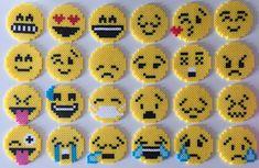 Emoji Perler Bead 24 Styles by PixelPrecious on Etsy