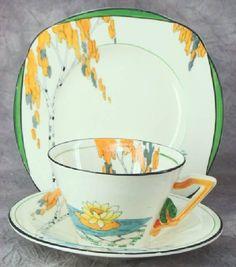 China & Dinnerware The Best Art Deco Burleigh Ware Zenith Design Bowl C.1930s Brocade Design Fine Craftsmanship
