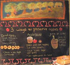 A fun chalkboard drawing for third grade farm block; I like the way the apple form drawing shape was incorporated into the overall drawing.