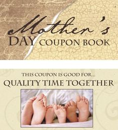 Mother's Day Coupon Book!