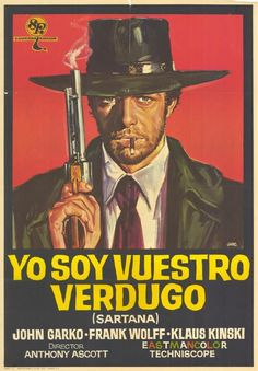 Sartana the Gravedigger (Italian) Movie Poster Norman Rockwell, Monet, Foreign Movies, Cinema, Vintage Horror, Vintage Films, Weird Science, Action Film, Western Movies