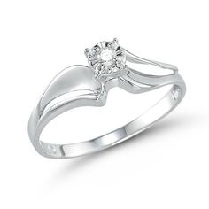 1/20cttw Round Cut Sterling Silver  VVS1 Diamond Promise Ring #affinityengagementjewels #Promise #(M-10200000000JW035P) other sellar listing