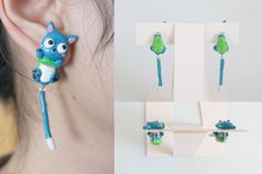 happy earrings from Fairy tail. on sale at etsy
