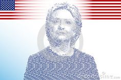 Hillary Clinton, editorial, vector file, illustration