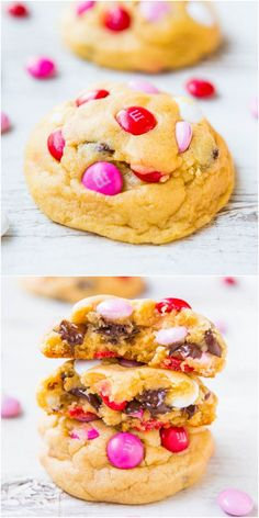 Soft M&M Chocolate Chip Cookies - The softest, thickest, best M&M cookies ever! People go nuts for these big cookies loaded with M&Ms and chocolate chips!