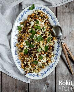 Kokit ja Potit -ruokablogi: Paahdettu kukkakaali-kikhernesalaatti