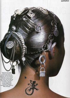US Vogue March 1994, Quicksilver  Bridget Hall by Penn