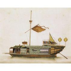 Oriental Ship Canvas Art - (36 x 24)