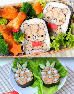 Sushi with fun design d