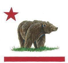 Wrong Way Bear California Flag | Bear Flag Museum