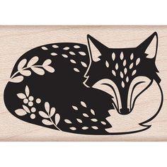 Hero Arts Woodblock Stamp By Lia Griffith - Sleeping Fox