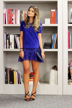 Super Vaidosa Look do dia: Renda & Peplum Super Vaidosa