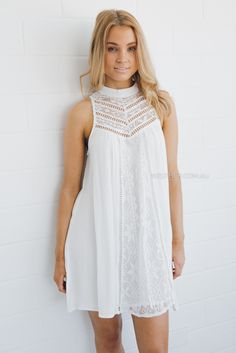 stevie lace tunic - ivory |
