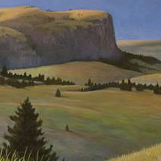 Chief Cliff #art #art-work #artwork #baby #buffalo-jump #chief-cliff #cliff #cloud #flathead-lake #indian-maiden #lake #landscape #limited-edition #loon-lake #montana #monte-dolack #sacajewa #water