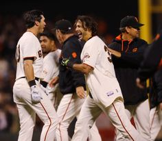 San Francisco Giants' Michael Morse celebrates hitting a walk-off single to beat the New York Mets, 5-4 in the ninth inning at ATT Park in San Francisco, Calif. on Saturday, June 7, 2014. (Jim Gensheimer/Bay Area News Group)