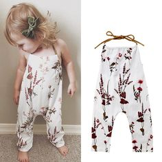 Toddler Baby Girl Pants One-Piece Halter Romper With .- Kleinkind-Baby-Mädchen-Hosen-einteiliger Halter-Spielanzug mit Blumen Toddler Baby Girl Pants One-Piece Halter Romper With Flowers – – # Toddler baby girl pants One-piece - Unique Baby Boy Clothes, Boys Clothes Style, Newborn Boy Clothes, Baby Outfits Newborn, Baby & Toddler Clothing, Toddler Outfits, Baby Boy Outfits, Kids Outfits, Baby Newborn