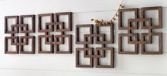 Decorative Wooden Wall Art Idea