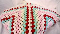 Giant granny square pillow cover