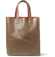 MarniPanelled Leather Tote Bag