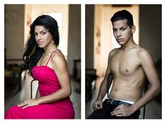 A photographer has snapped the portraits of 12 Cuban transgender men and women both before and after their sex changes.  Claudia González, who was born in Ch