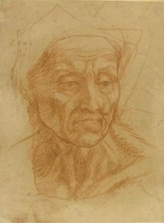 Andrea del Sarto (1486 - 1530)  Study of an old Woman's Head Collections: Western Art Drawings Collection: Browse - Ashmolean Museum