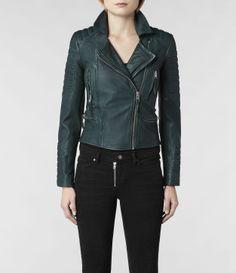 AllSaints Forest Leather Biker Jacket