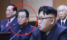 Education minister Kim Yong-Jin (circled), 63, was shot dead after his 'bad…