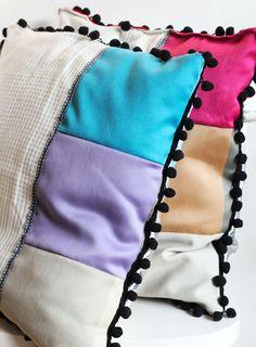 { cojin con retales } Lana fRed: Cushion DIY