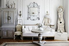 Swedish gustavian style   Marked by a soft palette, nods to neoclassicism, and respect for light, Swedish Gustavian style is in a class of its own. There's nothing like this style's dramatic juxtaposition between the elegant and the rustic, the cozy and the refined. Here are our top three reasons every design aficionado loves Swedish Gustavian style: Scandinavian ~