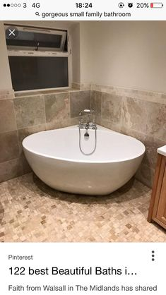 Freestanding bath ideas freestanding bath with deck mounted traditional taps family bathroom midlands small bathroom with Shower Taps, Steam Showers Bathroom, Bathroom Faucets, Bath Shower, Ikea Bathroom, Shower Seat, Boho Bathroom, Modern Bathroom, Family Bathroom
