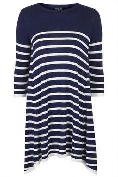 Photo 1 of Knitted Stripe Swing Dress