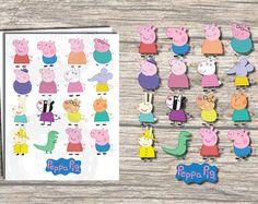 13x PEPPA PIG CENTERPIECES. Instant Digital by RedAppleStudio
