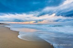 Atlantic Morning - Early morning sky over the beach at Ocracoke Island on the Outer Banks, NC. #banks #beach #beautiful #cloud #coastline #edge #exposure #foam #idyllic #island #lomg #loneliness #morning #motion #nature #nc #ocracoke #outer #relaxation #rest #sand #scenery #sea #seascape #sky #sunlight #sunrise #surf #tourism #tranquil #travel #water #waterfront #wave