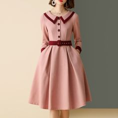 Casual Dresses For Women, Cute Dresses, Vintage Dresses, Dresses With Sleeves, Skater Dresses, Awesome Dresses, Boho Dress, Dress Skirt, Cobalt Blue Dress