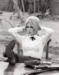 Brigitte Bardot on the set of Shalako in Almería, Spain, 1968