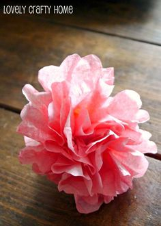 Coffee filter flower for wreath, monogram, ect.