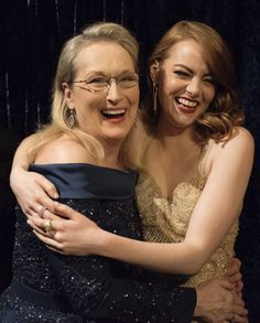 Meryl Streep and Emma Stone attend the 89th Annual Academy Awards at Hollywood & Highland Center on February 26, 2017 in Hollywood, California.