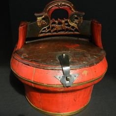 Antique Chinese WEDDING / RICE BASKET with by EclectibleParts4U, $149.00
